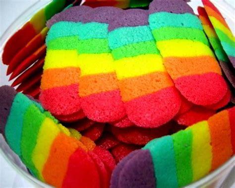 Cetakan Roti Lidah Kucing cara mudah membuat resep lidah kucing rainbow pelangi spesial