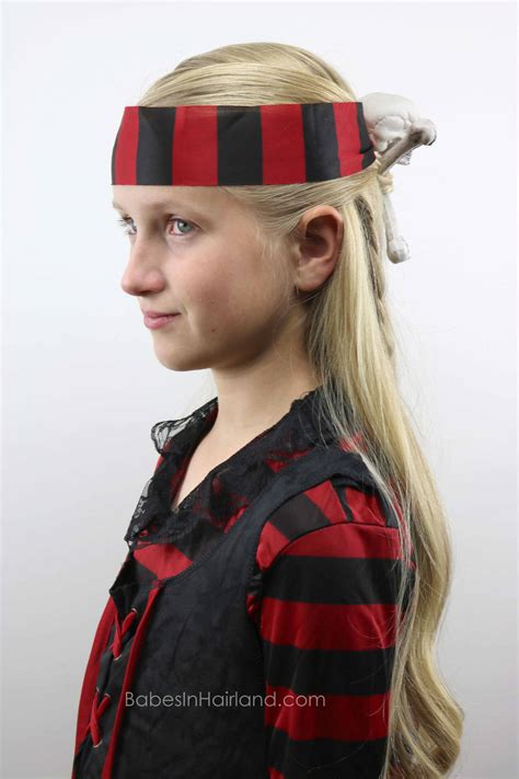 halloween hairstyles for pirates skull crossbones pirate hair halloween hairstyle