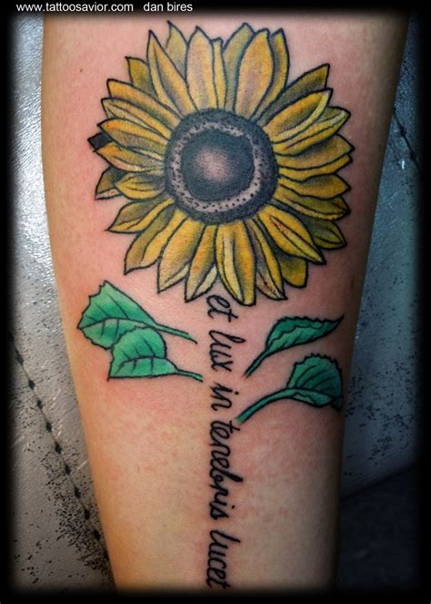 sunflower tattoos with quotes quotesgram