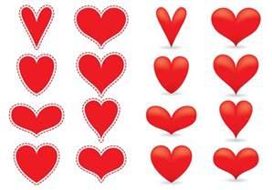 red heart vectors download free vector art stock