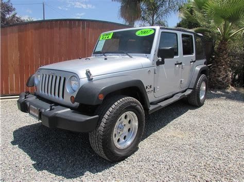 2007 jeep unlimited 2007 jeep wrangler unlimited x sport utility 4d