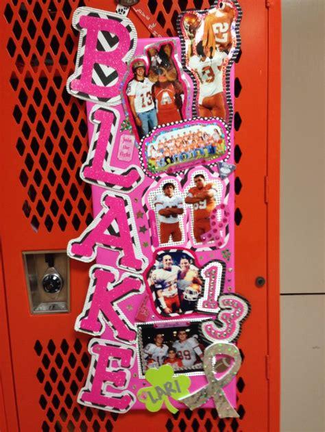 Locker Designs Ideas by Football Locker Decoration Thinkpink Ahs Cheer
