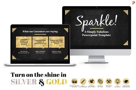 Sparkle Gold Foil Ppt Templates Presentation Templates On Creative Market Sparkle Website Templates
