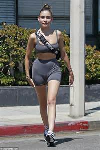 madison beer uk madison beer dons a sports bra and skintight shorts while