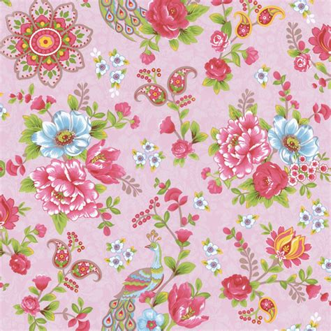 Colorful Home Decor Accessories by Pink Paisley Floral Wallpaper Traditional Wallpaper