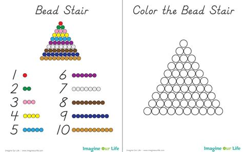 bead pattern worksheet diy montessori math beads imagine our life
