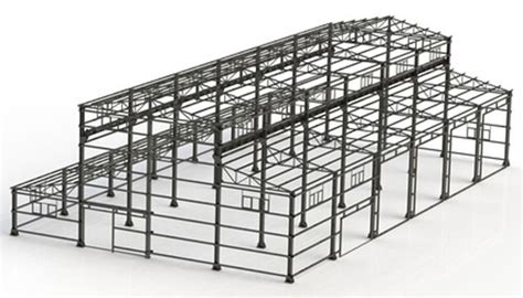 structural layout of industrial building structural projects 2d 3d drafting and industrial design