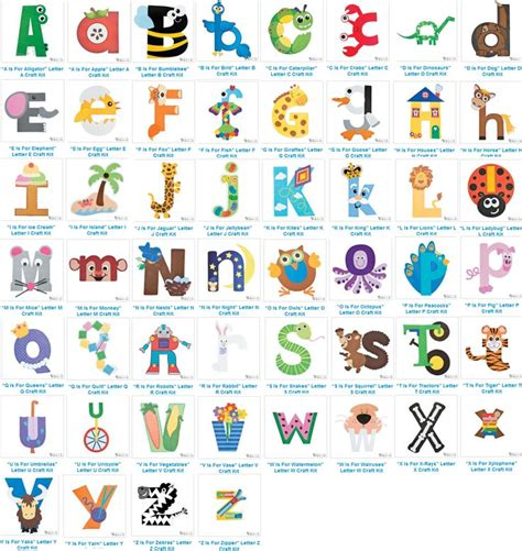 abc pattern for kindergarten best 25 alphabet letter crafts ideas on pinterest