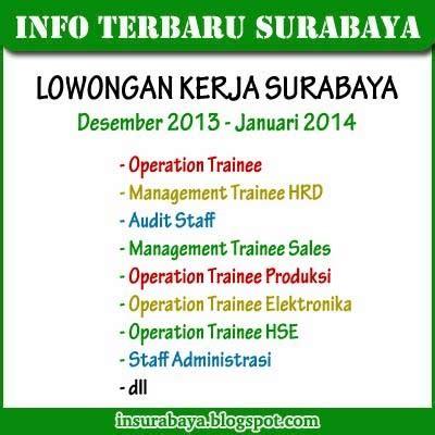 Lowongan Pekerjaan Surabaya 8 lowongan kerja surabaya desember 2013 info surabaya