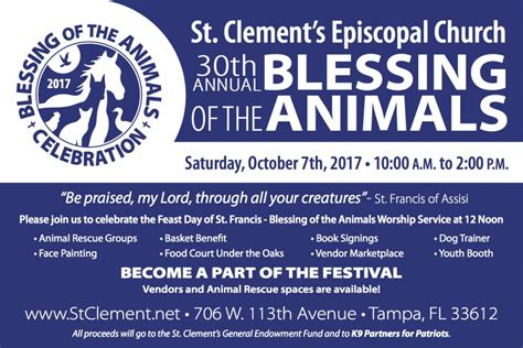 blessing of the animals episcopal church