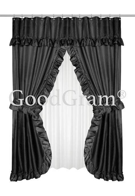 Lauren Dobby Design Double Swag Shower Curtain Sets