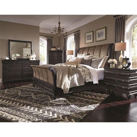 Cal King Bedroom Furniture Set by Hyland Park Vintage Black 6 Cal King Bedroom Set