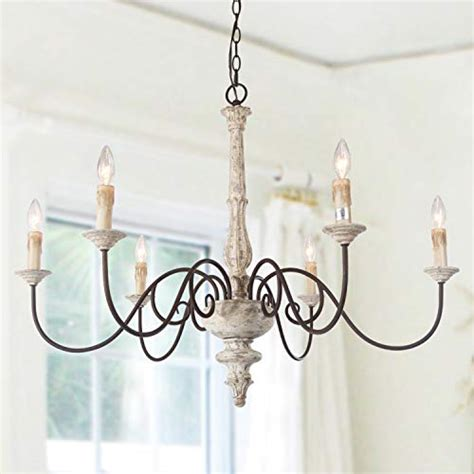 laluz  light french country chandelier distressed