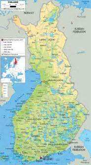 maps cities large detailed physical map of finland with all cities