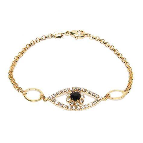 Eye Pendant Bracelet evil eye cz gold vermeil pendant bracelet
