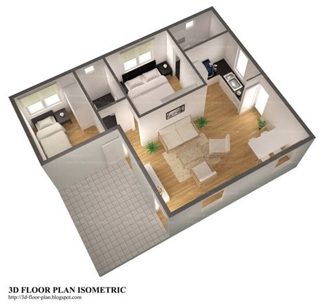 smallhomeplanes 3d isometric views of small house plans 3d floor plans 3d floor plan isometric small home plan
