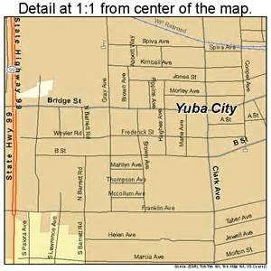 yuba city california map 0686972