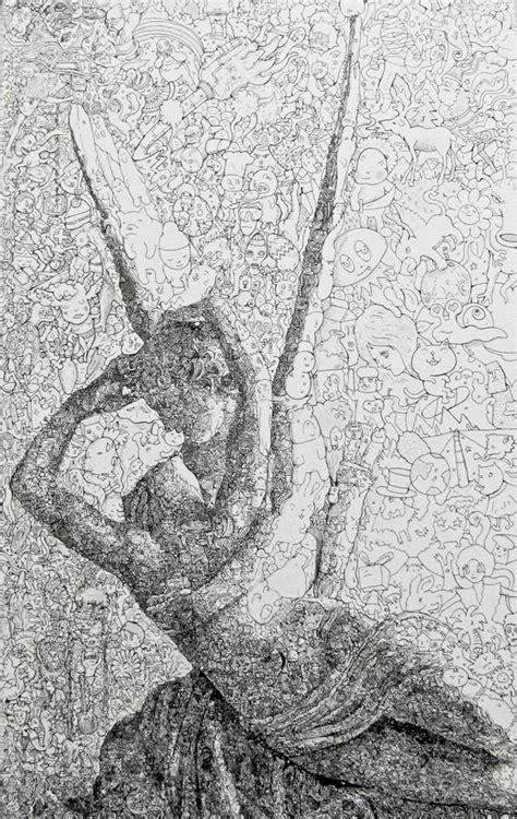 manic doodle drawings by sagaki keita new maddeningly complex doodle drawings from sagaki keita