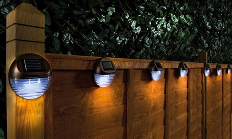 lights of the groupon solar fence lights groupon
