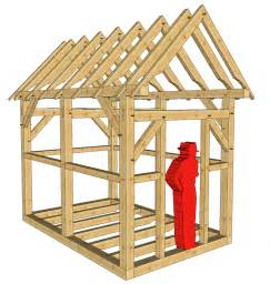 8x12 timber frame shed or playhouse timber frame hq