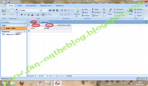 membuat form login ms access cara membuat form login dan data siswa menggunakan