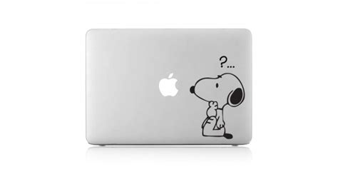 Macbook Aufkleber Snoopy by Snoopy Question Mark Laptop Macbook Vinyl Decal Sticker