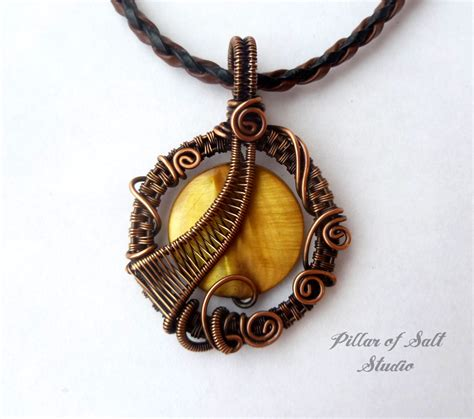 Copper Handmade Jewelry - wire wrapped pendant wire wrapped jewelry handmade copper