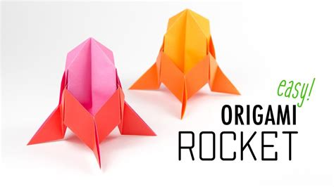 Origami Rocket - easy origami rocket spaceship tutorial diy paper