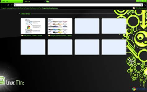 firefox themes linux mint linux mint google chrome theme by strychnine8301 on deviantart