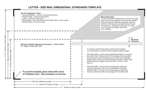 letter size mail dimensional standards template usps postcard size ratio gemescool org