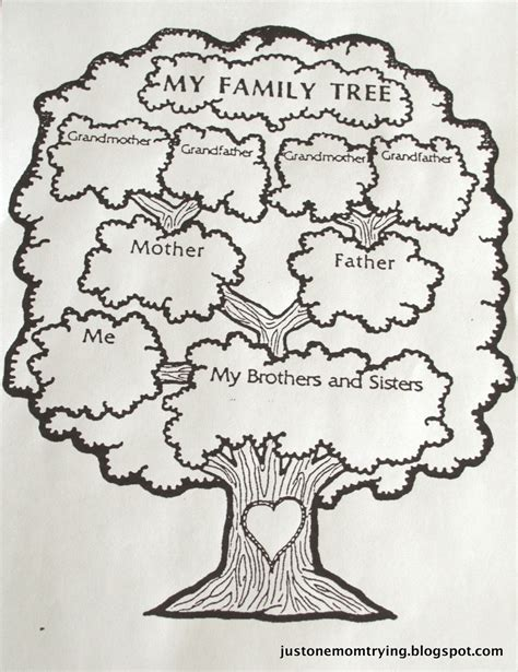 drawing a family tree template just one trying