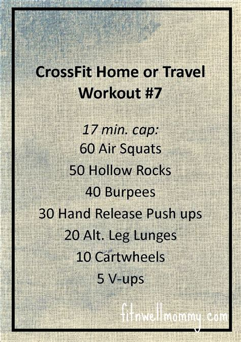 crossfit home or travel wod 7 deliciously fit