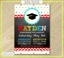 preschool graduation announcements templates graduation invitation preschool graduation by graceandguy