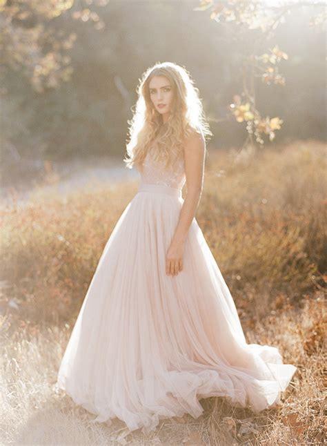 Soft Pink Wedding Gowns by Soft Pink Fall Wedding Inspiration Blush Wedding 100