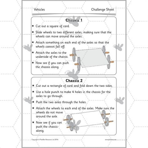 design criteria ks2 vehicles wheels axles and chassis planbee single lesson