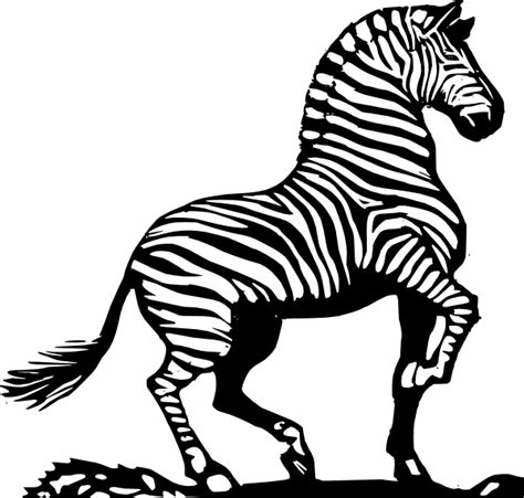 clipart zebra wood cut zebra clip art at clker vector clip art