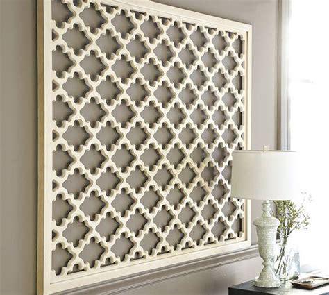 white wall decor lattice panel white wall