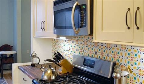 diy temporary backsplash house updated diy home decor how to install a temporary kitchen