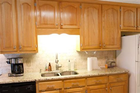 how to change the look of kitchen cabinets orange oak cabinet makeover the lettered cottage