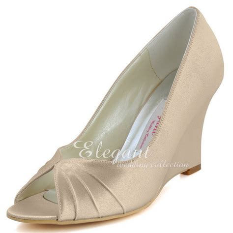 women s comfort wedges woman shoes ep2009 chagne size 6 wedges heels comfort