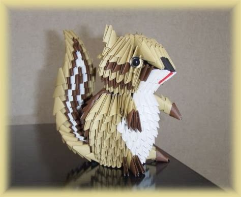 3d Origami Ideas - 3d origami 3d origami chipmunk origami and