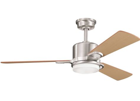 Kichler 300017bss Brushed Stainless Steel 48 Quot Indoor Kichler Ceiling Fans With Lights
