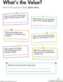 place value what s the value worksheet education com