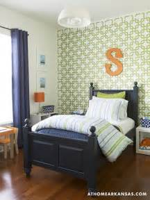 geometric wall stencil contemporary boy s room at