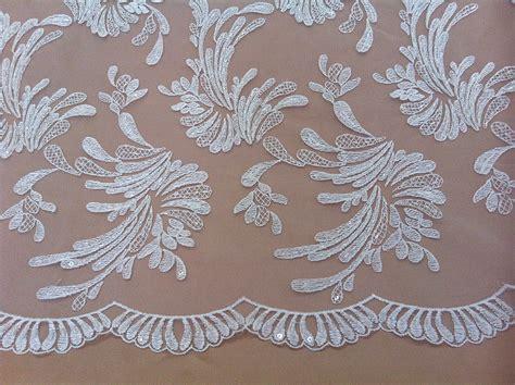 white beaded lace white white bridal beaded lace fabric wedding dress