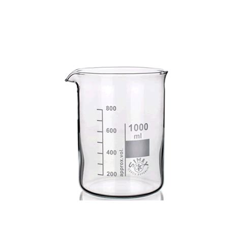 graduated low form beaker with spout simax 50ml