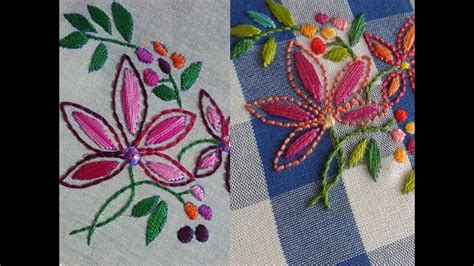 Embroidery Handmade Designs - new embroidery handmade embroidery flowers stitching