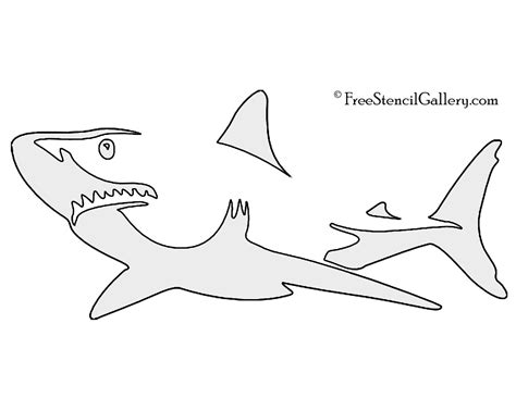 carving templates free shark stencil free stencil gallery