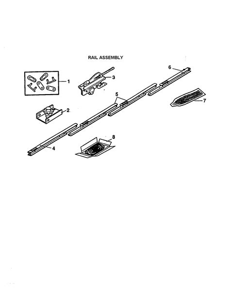 craftsman garage door opener opener assembly parts model