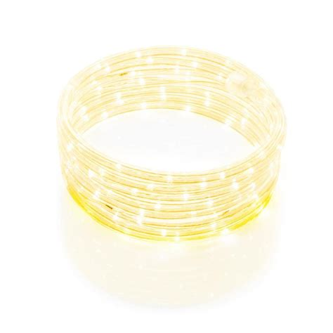 shop meilo 16 ft led yellow rope light at lowes com